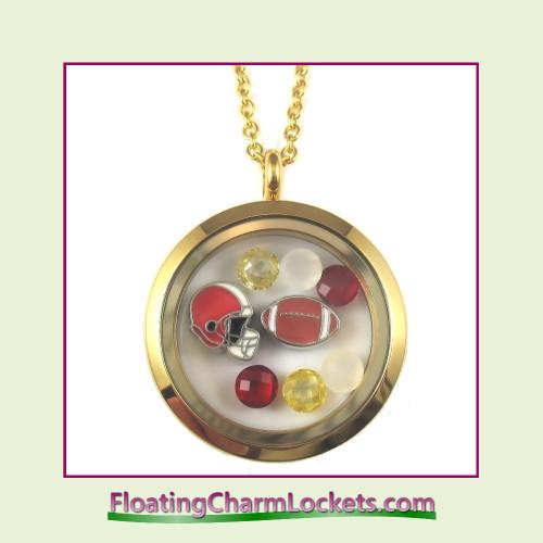 FCL Designs® Kansas City Football Theme Floating Charm Locket