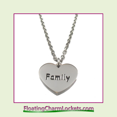 Stainless Steel Necklace - Family