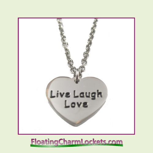 Stainless Steel Necklace - Live Laugh Love