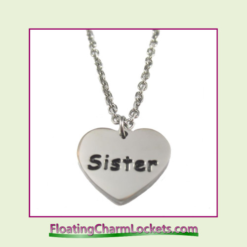 Stainless Steel Necklace - Sister