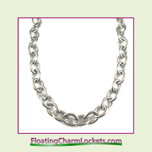Stainless Steel Bracelet - Plain - 8mm Oval Link