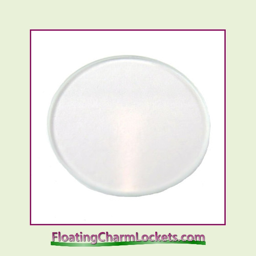 Clear Glass Back Plate for Large Round Stainless Steel Locket