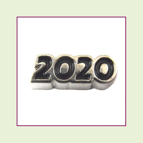 2020 Silver and Black Floating Charm