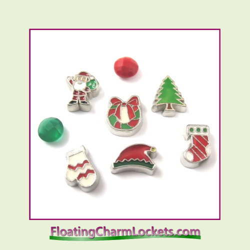 FCL Designs® Christmas Floating Charm Combination for Lockets
