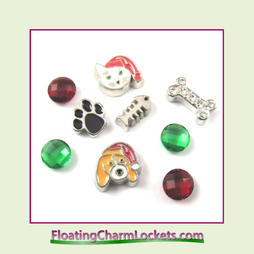 FCL Designs® Holiday Pets Floating Charm Combination for Lockets