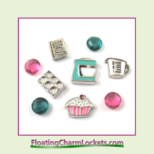 FCL Designs® Cooking Floating Charm Combination for Lockets
