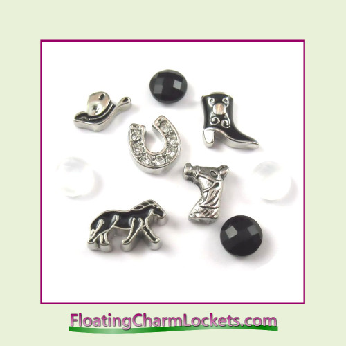 FCL Designs® Horse  Floating Charm Combination for Lockets