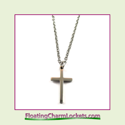 Stainless Steel Necklace - Cross (Silver)