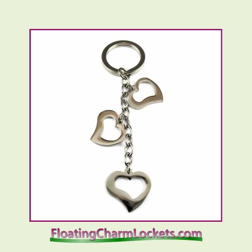 Stainless Steel Keychain - Open Heart