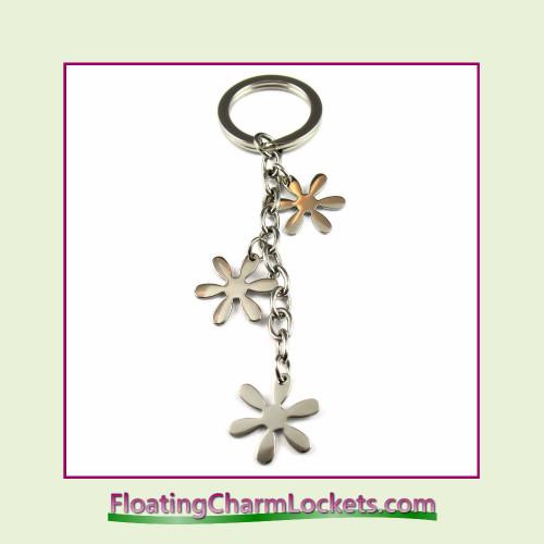Stainless Steel Keychain - Flower