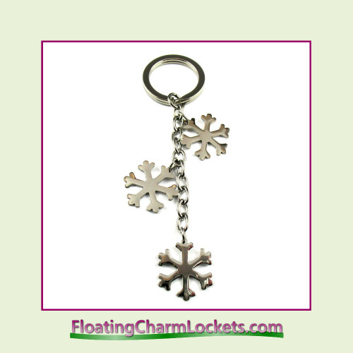 Stainless Steel Keychain - Snowflake