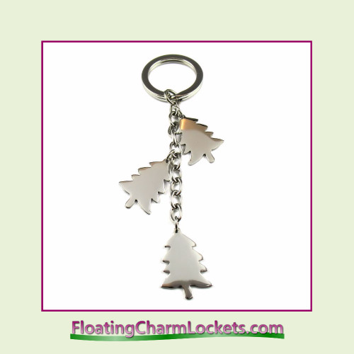 Stainless Steel Keychain - Christmas Tree