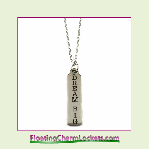 Stainless Steel Necklace - Dream Big (Silver)