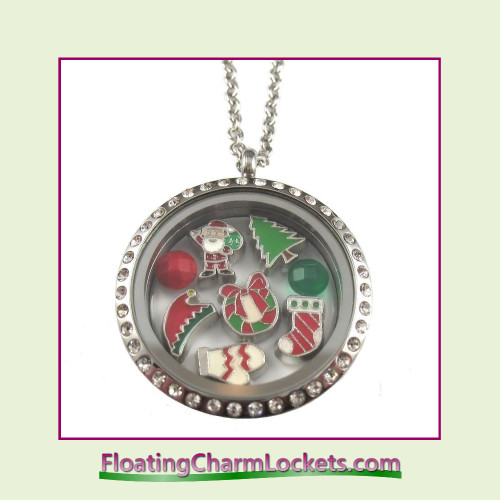 FCL Designs® Christmas #2 Theme Floating Charm Locket