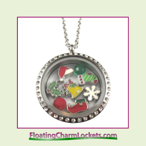 FCL Designs® Christmas #3 Theme Floating Charm Locket