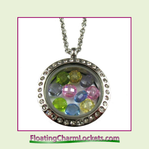 FCL Designs® Easter Crystals Theme Floating Charm Locket