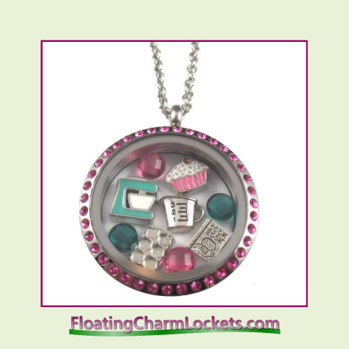 FCL Designs® Cooking Theme Floating Charm Locket