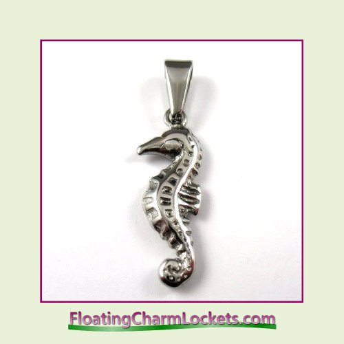 Stainless Steel Pendant - Seahorse (Silver)