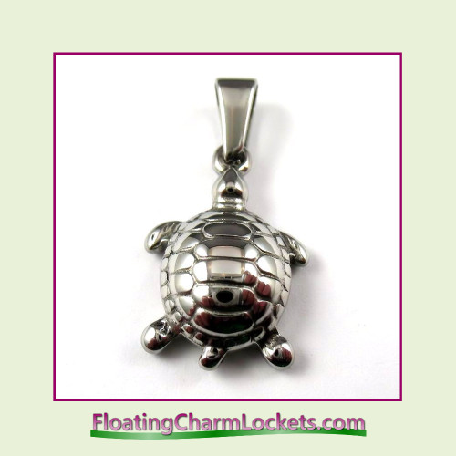 Stainless Steel Pendant - Turtle (Silver)