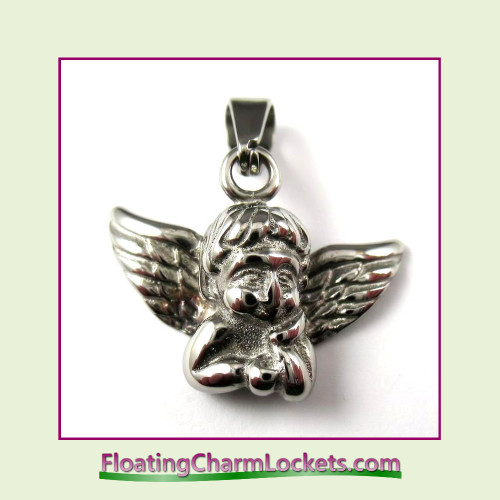 Stainless Steel Pendant - Guardian Angel (Silver)
