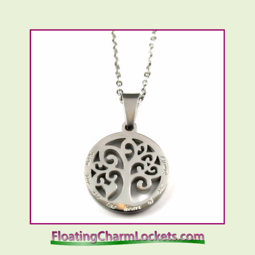 Stainless Steel Necklace - Mom You Are The Heart of Our Family