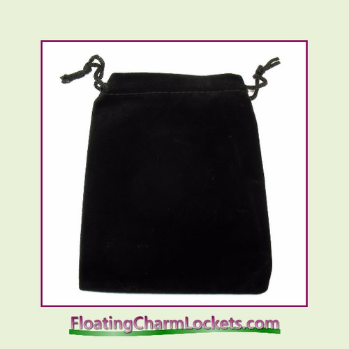 "Black Velvet Drawstring Gift Bag 3-1/2"" x 4-1/2"""