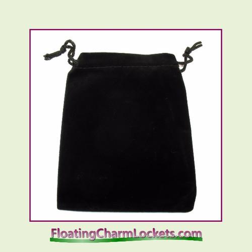 """Black Velvet Drawstring Gift Bag 3-1/2"""" x 4-1/2"""""""