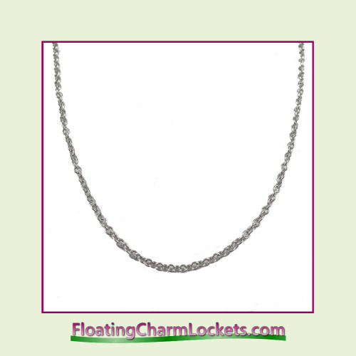 "SS555 - 21.7"" Silver Stainless Steel Chain (2.4mm)"