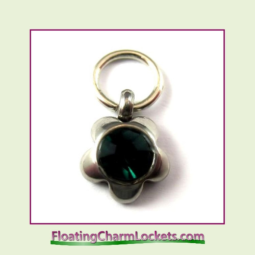 Charm:  8mmF-05 May Flower Birthstone Charm Stainless Steel