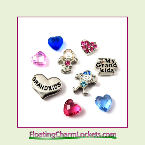 FCL Designs® Love My Grandkids  Floating Charm Combination for Lockets