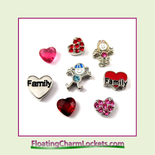 FCL Designs® Family  Floating Charm Combination for Lockets