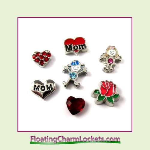 FCL Designs® Mother's Day  Floating Charm Combination for Lockets