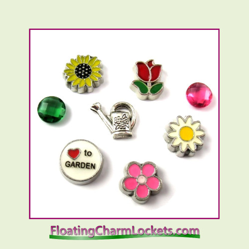 FCL Designs® Love To Garden  Floating Charm Combination for Lockets