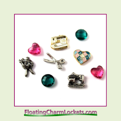 FCL Designs® Sewing - Knitting - Quilting  Floating Charm Combination for Lockets