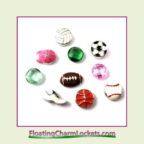 FCL Designs® Sports Charm  Floating Charm Combination for Lockets