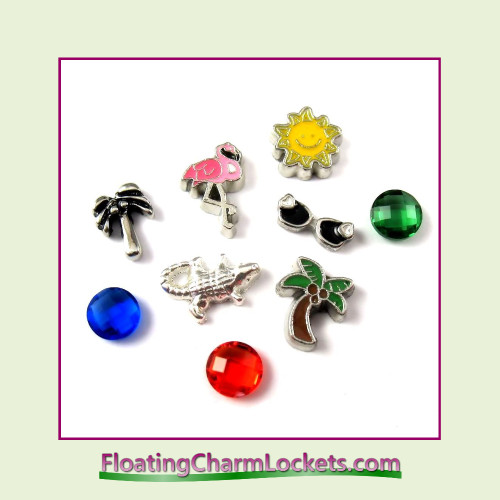 FCL Designs® Florida  Floating Charm Combination for Lockets