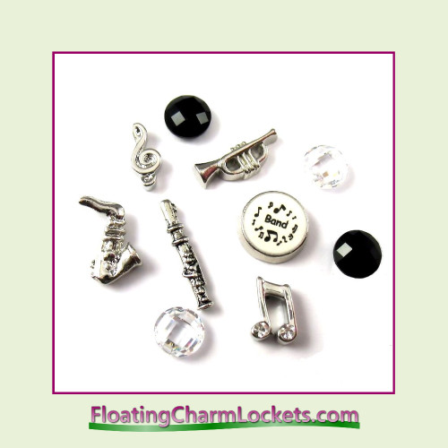 FCL Designs® Band  Floating Charm Combination for Lockets