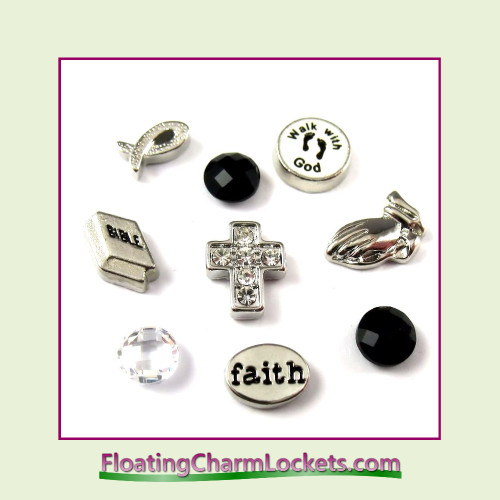 FCL Designs® Faith  Floating Charm Combination for Lockets