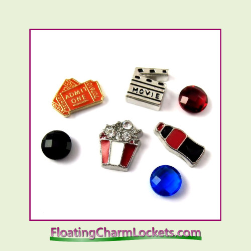 FCL Designs® Movie Lover  Floating Charm Combination for Lockets