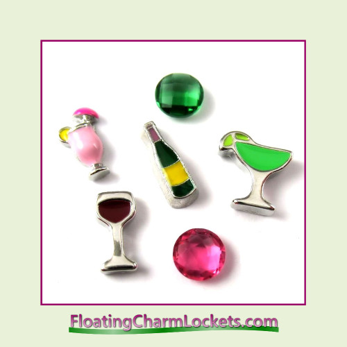 FCL Designs® Party Time  Floating Charm Combination for Lockets