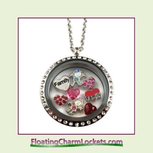 FCL Designs® Family Theme Floating Charm Locket