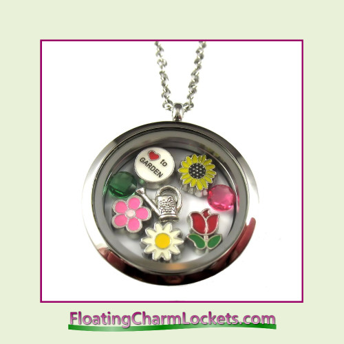 FCL Designs® Love To Garden Theme Floating Charm Locket