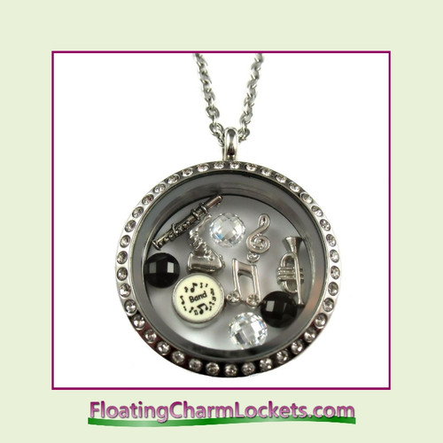 FCL Designs® Band Theme Floating Charm Locket