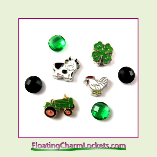 FCL Designs® Farm Floating Charm Combination for Lockets