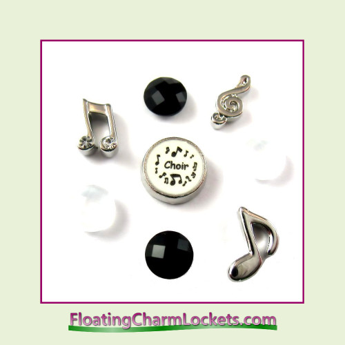 FCL Designs® Choir Floating Charm Combo for Lockets