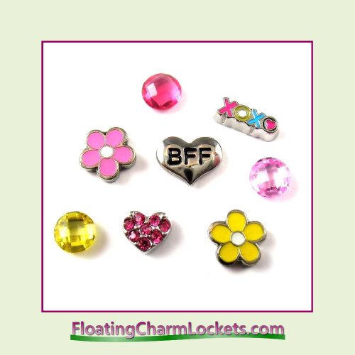 FCL Designs® BFF Floating Charm Combo for Lockets