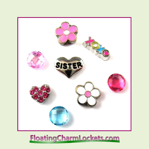 FCL Designs® Sister Floating Charm Combo for Lockets