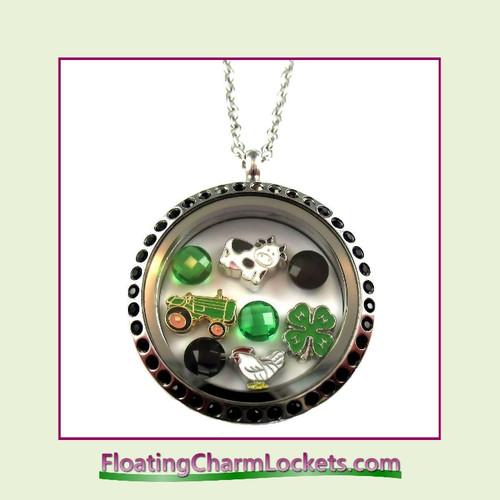 FCL Designs® Farm Theme Floating Charm Locket