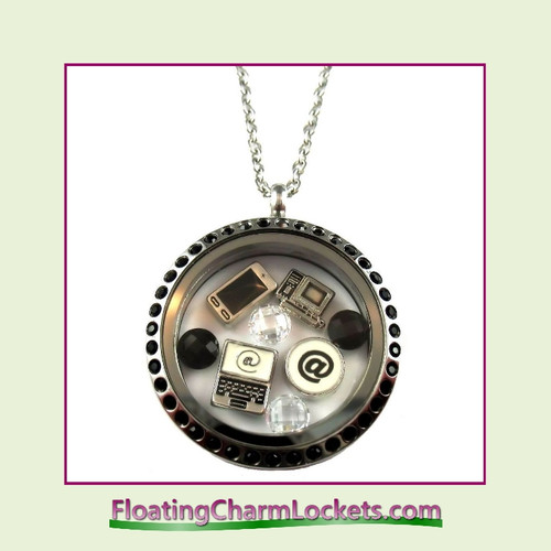 FCL Designs® Computer Techie Theme Floating Charm Locket