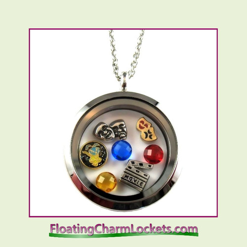FCL Designs® Drama Theme Floating Charm Locket